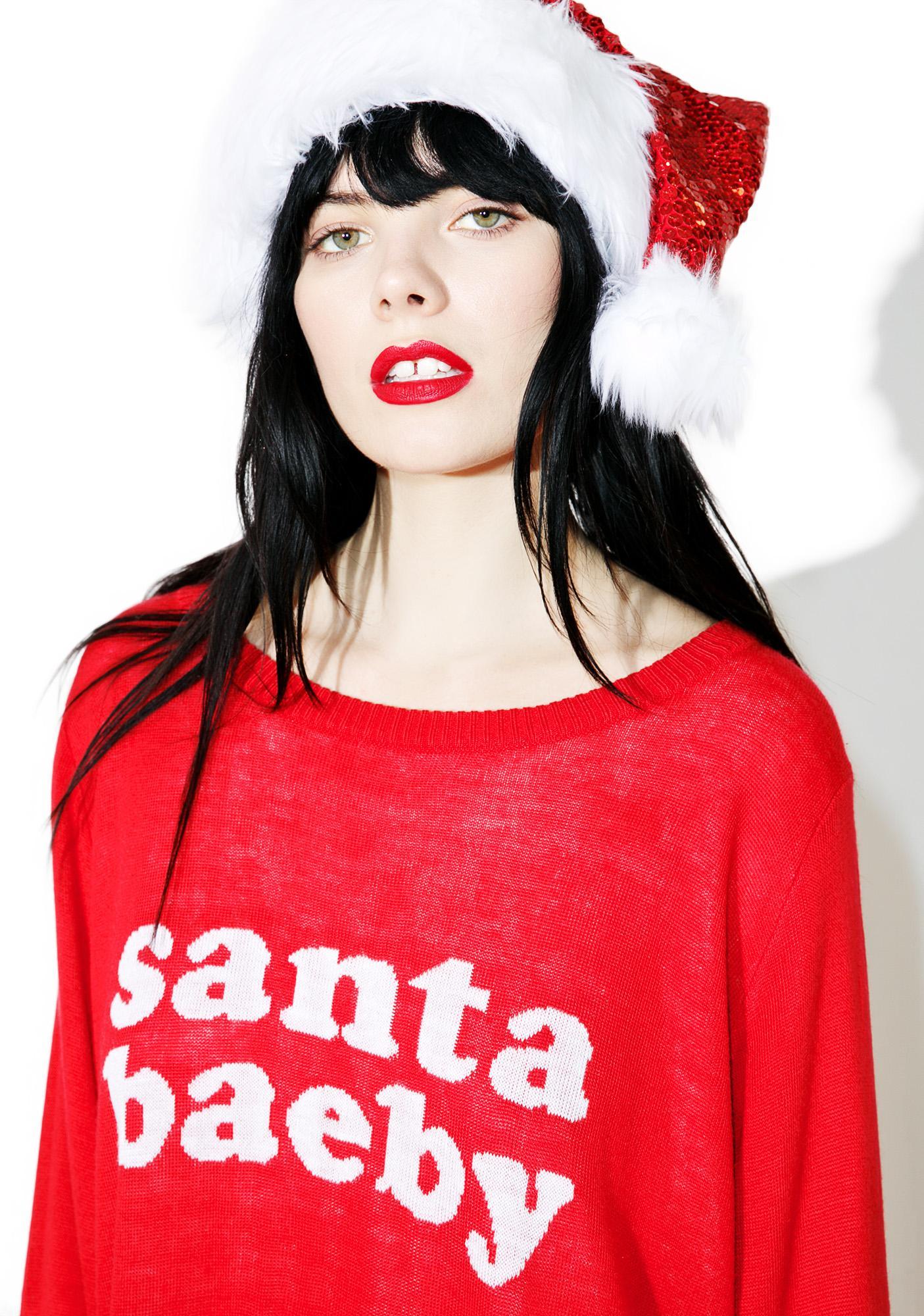 Tipsy Elves Santa Baeby Sweater