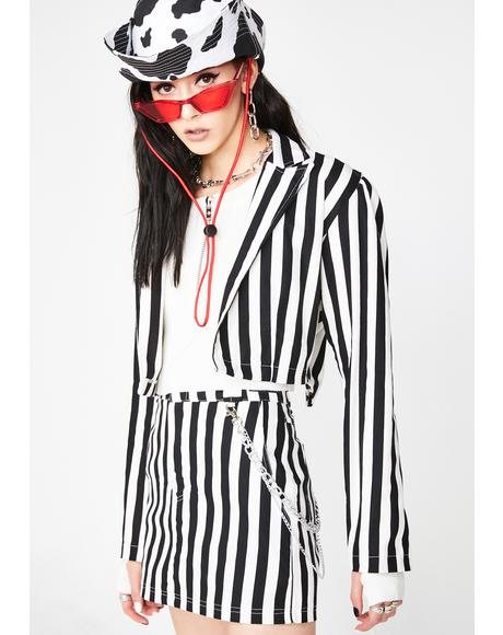 Beetle Juice Cropped Blazer