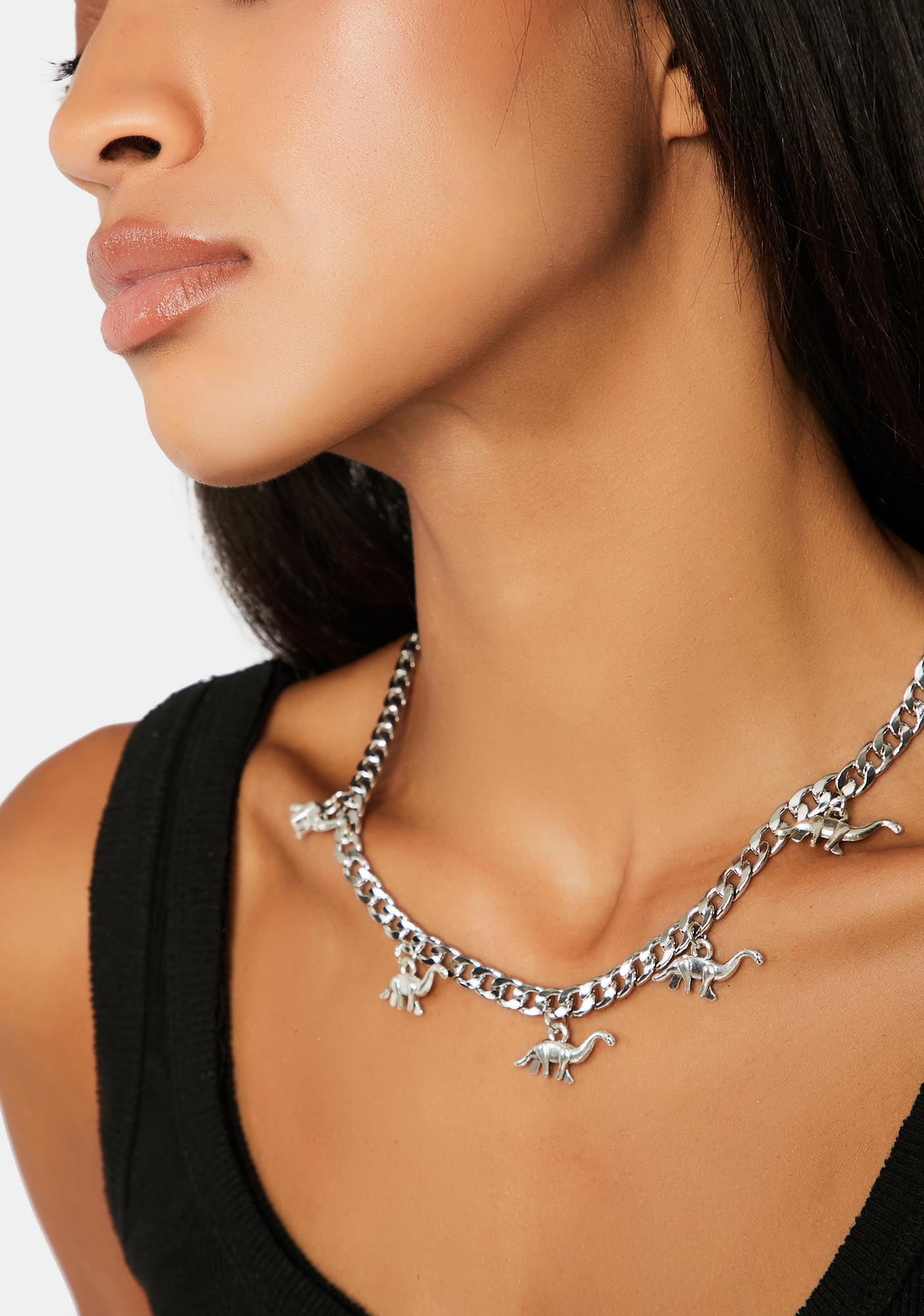 You're Dino-Mite Chain Link Necklace