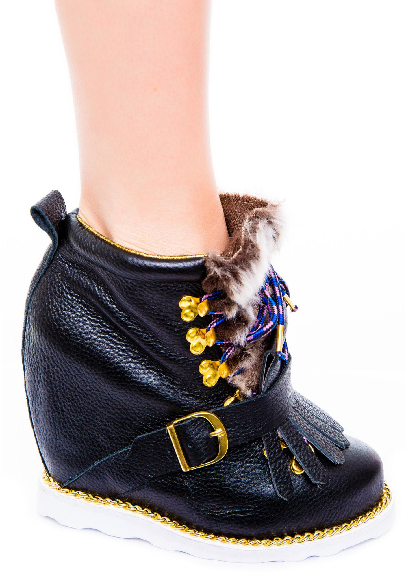 Irregular Choice Big Step Mama Wedge Boot