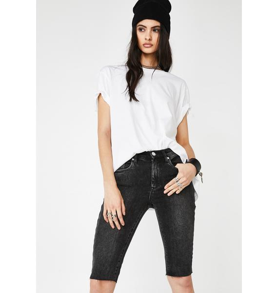Blank NYC Before And After Denim Bermuda Shorts