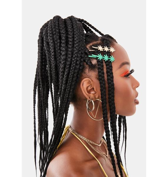 Top Shelf Leaf Hair Clips