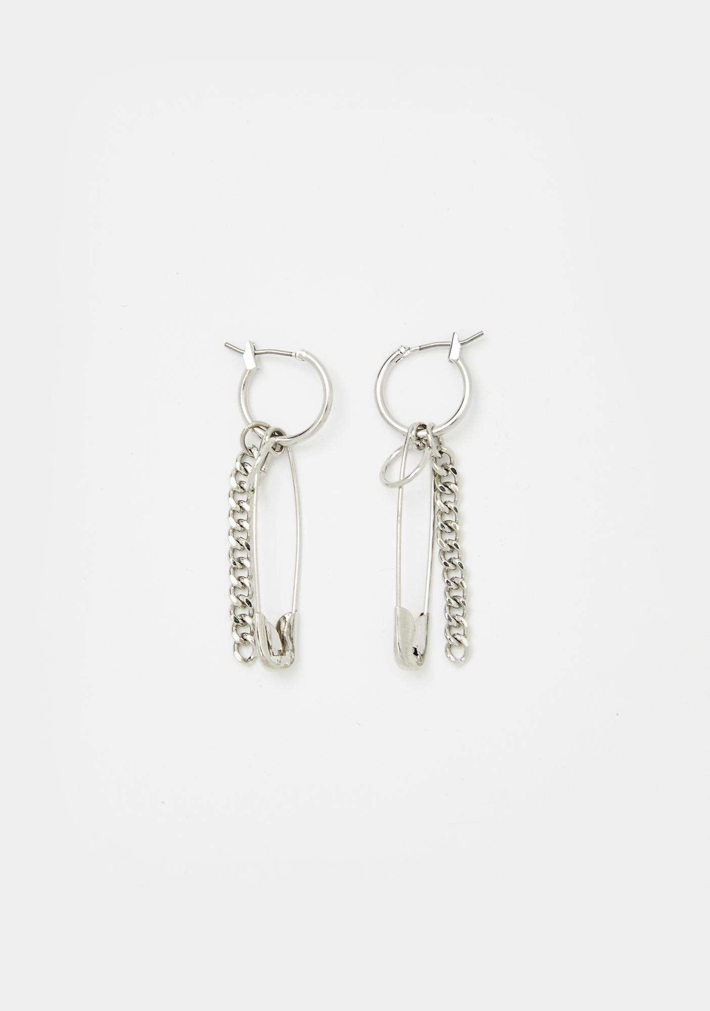 It's A Riot Safety Pin Earrings
