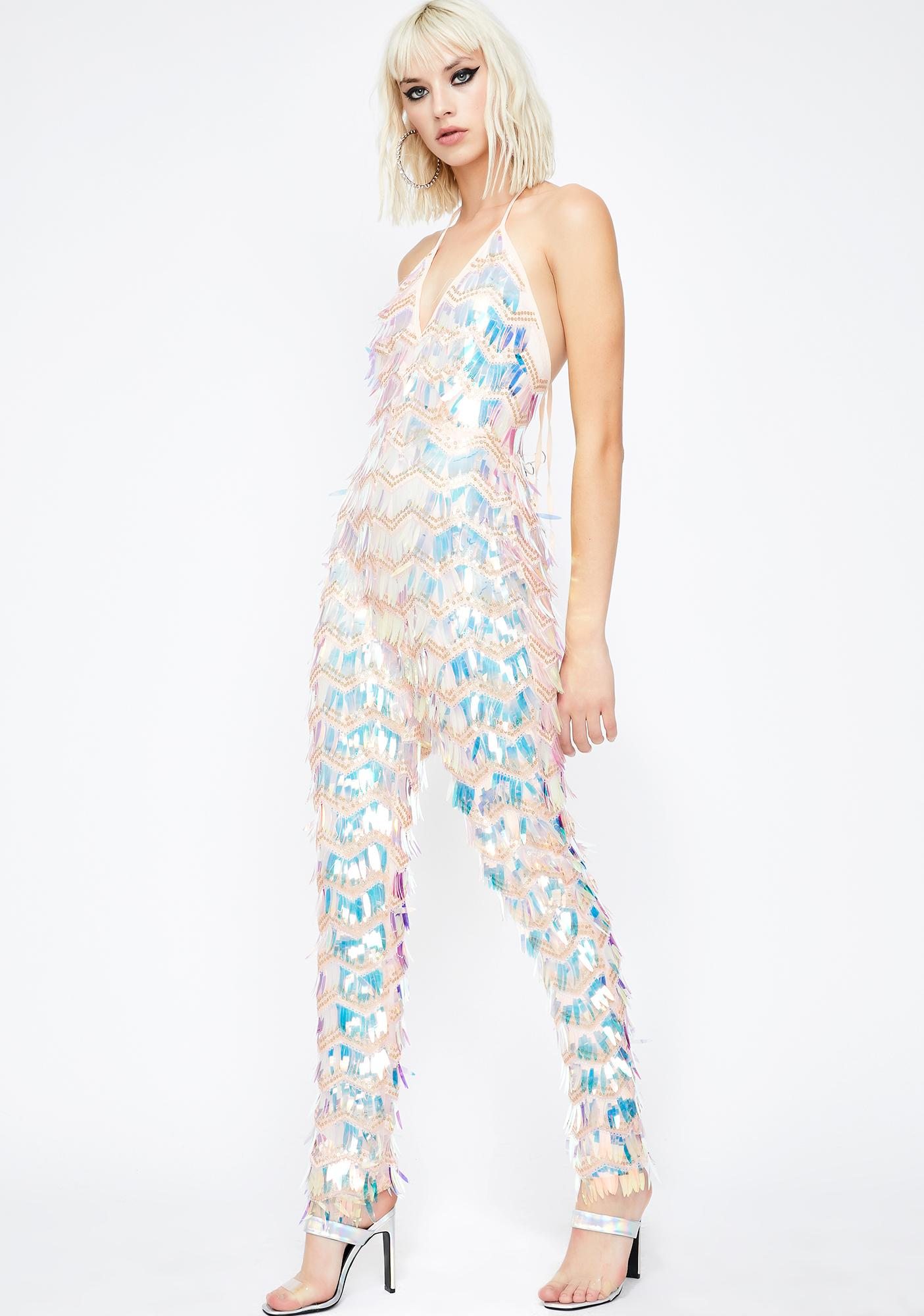Space Slay Iridescent Jumpsuit
