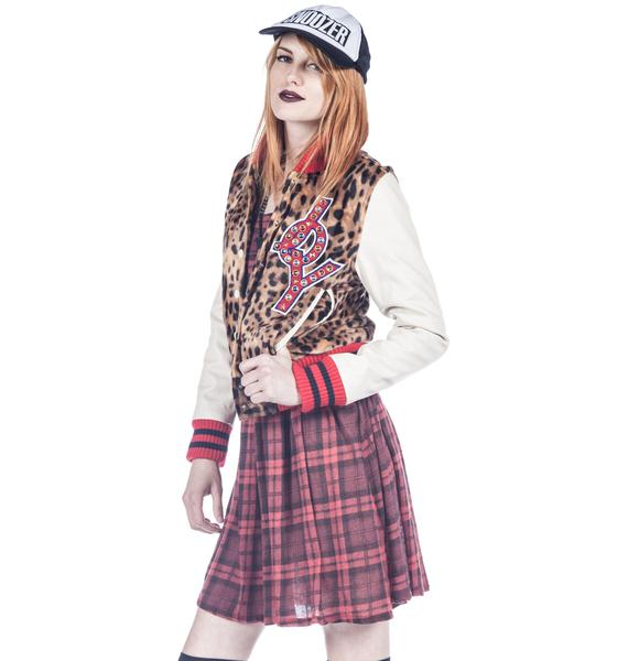 Joyrich Leopard Performer Varsity Jacket