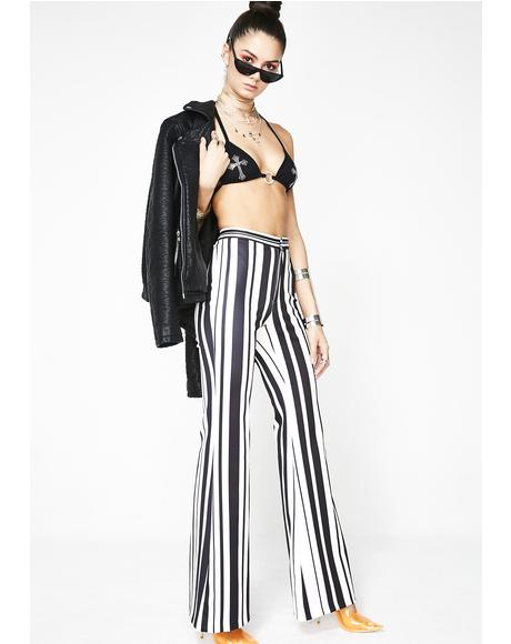 Midnight Funkytown Striped Pants