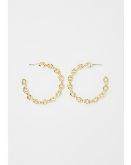 Stuntin' Habits Hoop Earrings