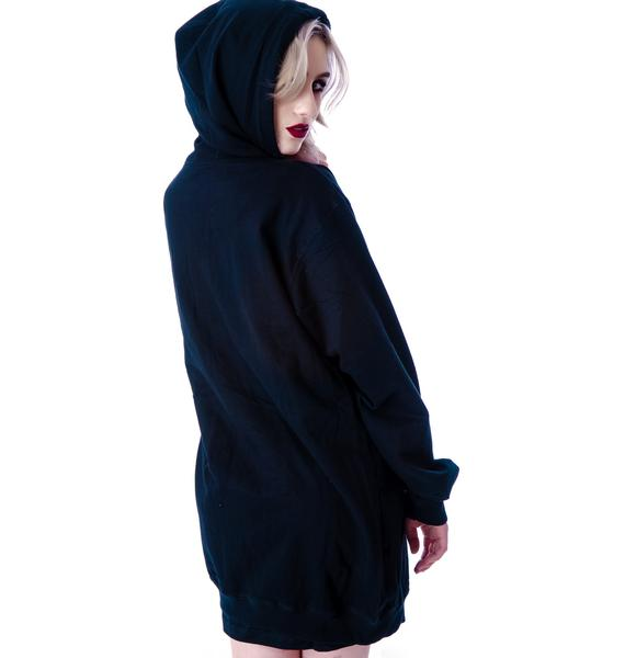 Long Clothing Icon Zip Up Hoodie