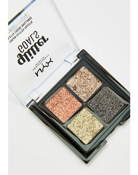 Galactica Glitter Goals Cream Quad Palette