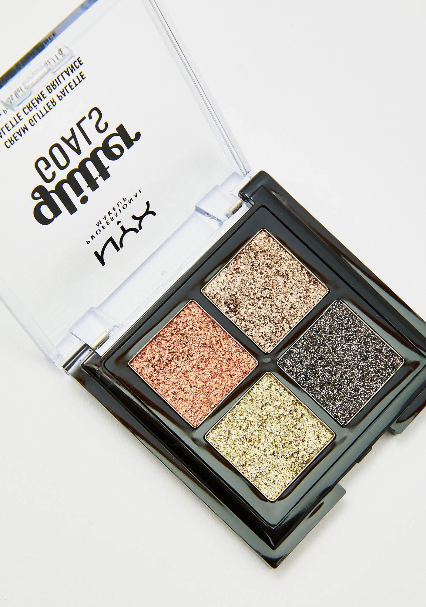 NYX Professional Makeup Galactica Glitter Goals Cream Quad Palette