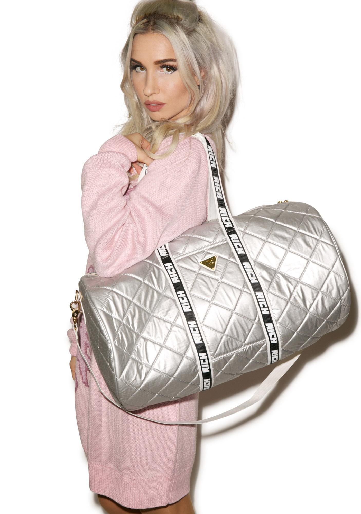 Joyrich Silver Sheen Boston Bag