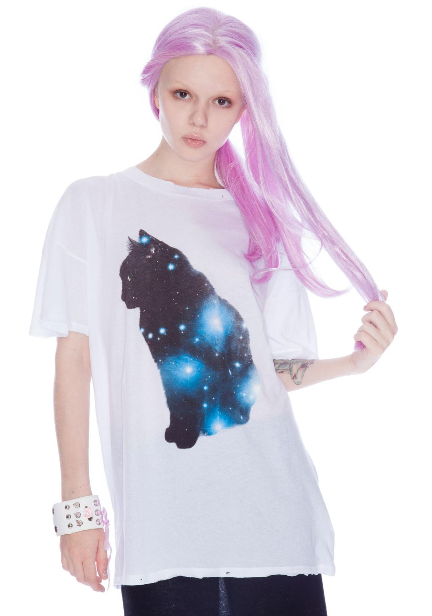 Wildfox Couture Galaxy Cat Donovan Tee