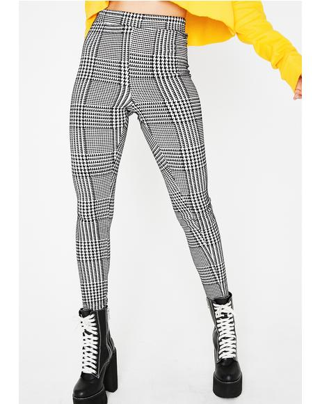 Serious Business Plaid Leggings