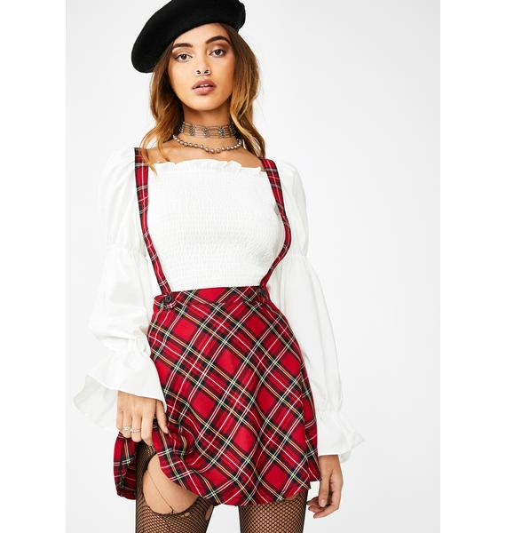 Tripp NYC Suspender Mini Skirt