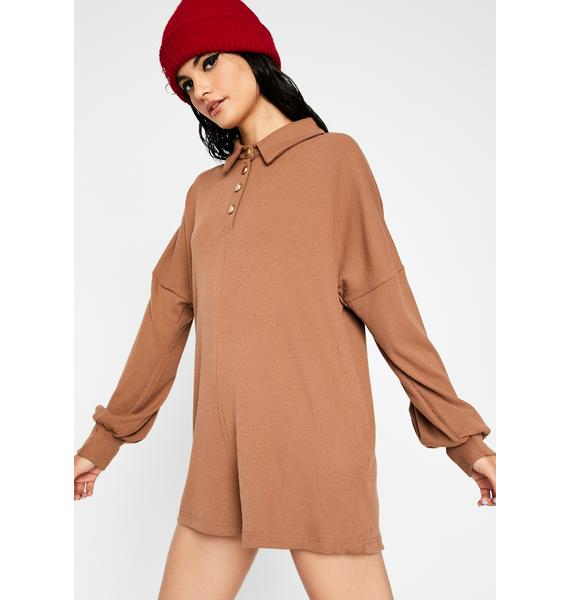 Work From Home Long Sleeve Romper