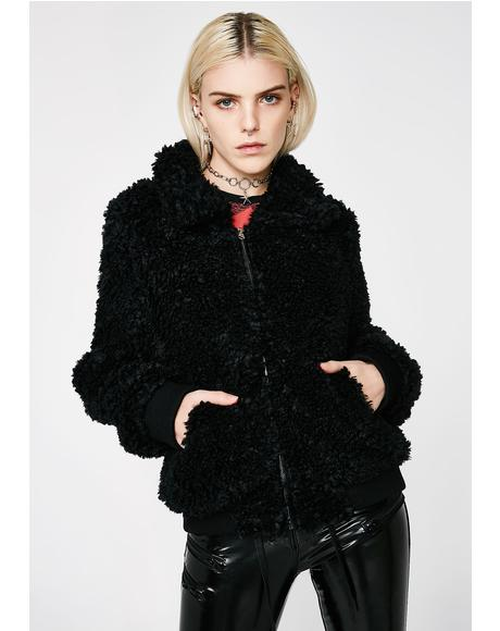 Onyx Love Bird Fuzzy Jacket