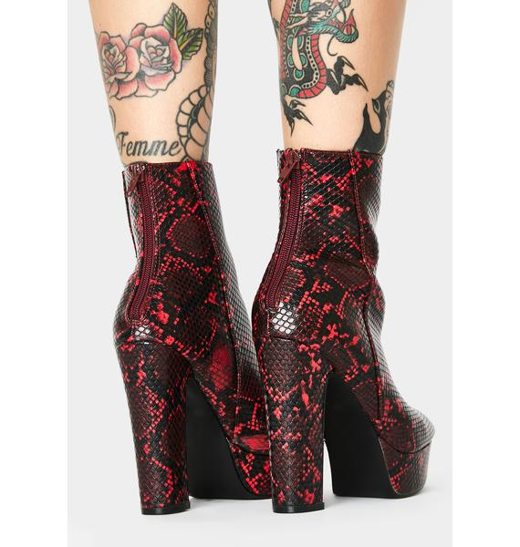 Blood Toxic State Heeled Booties