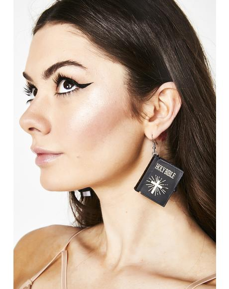 God's Plan Bible Earrings