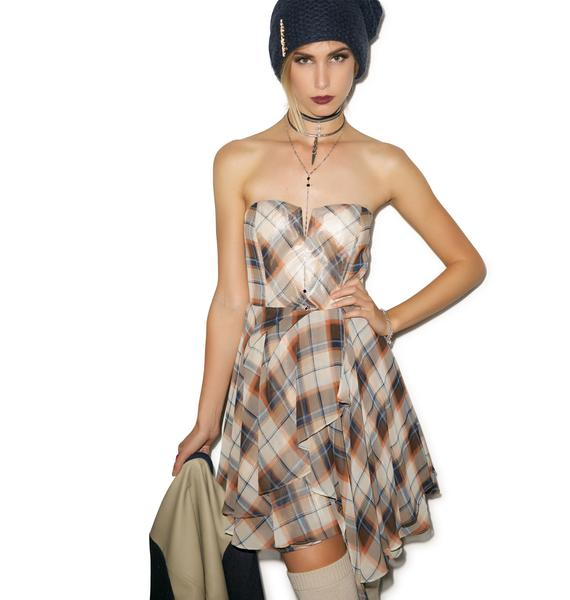 Plaid to Meet Ya Bodice Dress