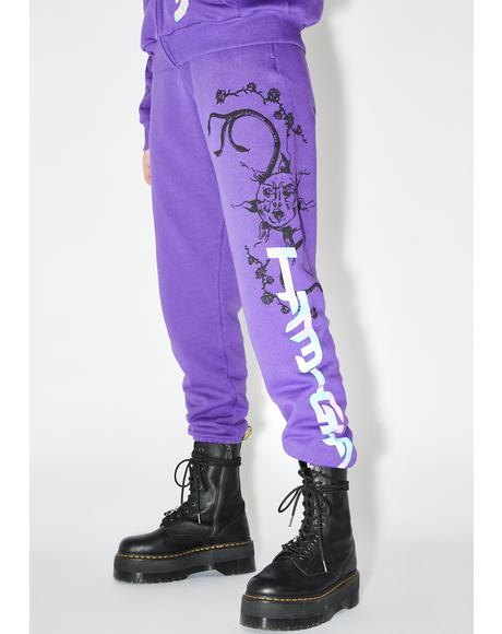 Purple Astrea Graphic Joggers