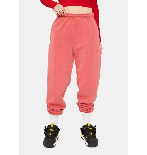 BDG Washed Red Jogger Sweatpants