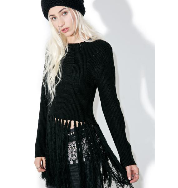 Visionary Fringed Sweater
