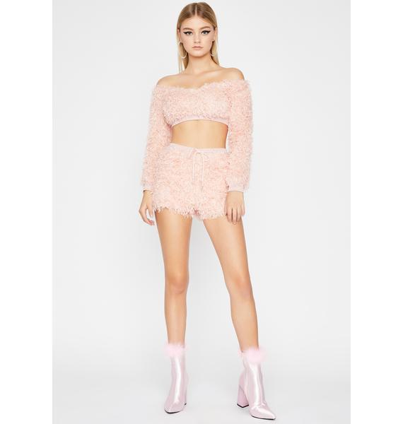 Sweet Pretty Shimmy Shorts Set