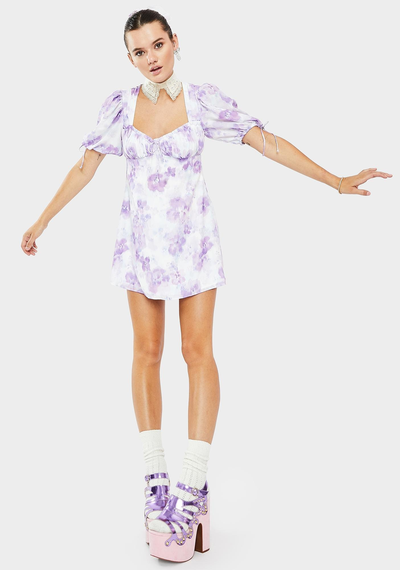 For Love & Lemons Zinna Mini Dress