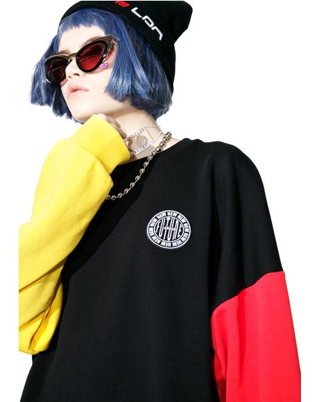Stamp Logo Color Sleeve Sweatshirt