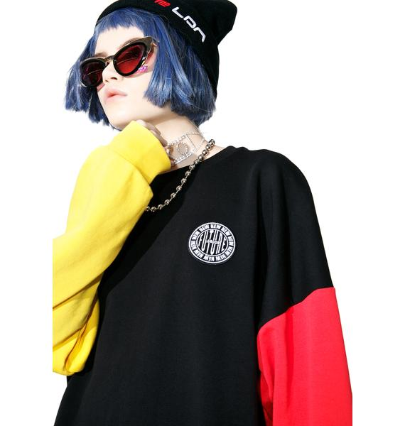 NEW FTR LDN Stamp Logo Color Sleeve Sweatshirt