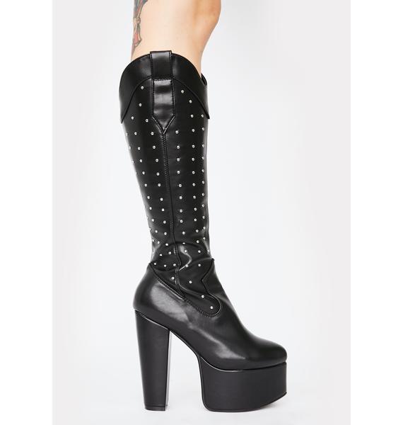 Lamoda Warnings Studded Boots