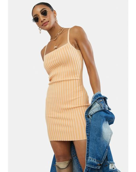 Tangy Good Days On My Mind Mini Dress