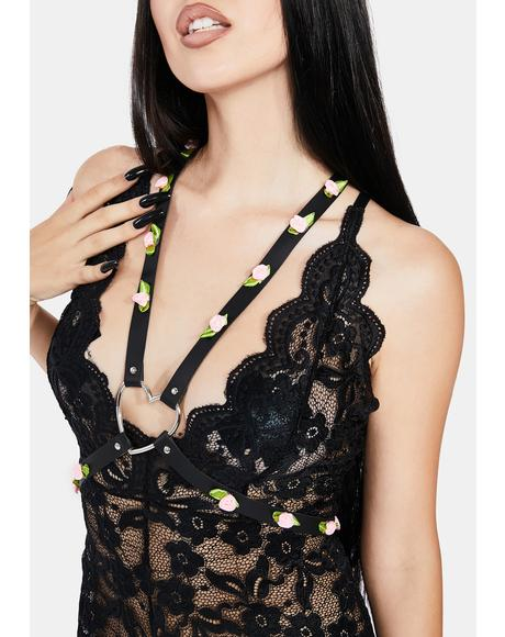 Dark Romance Flower Harness