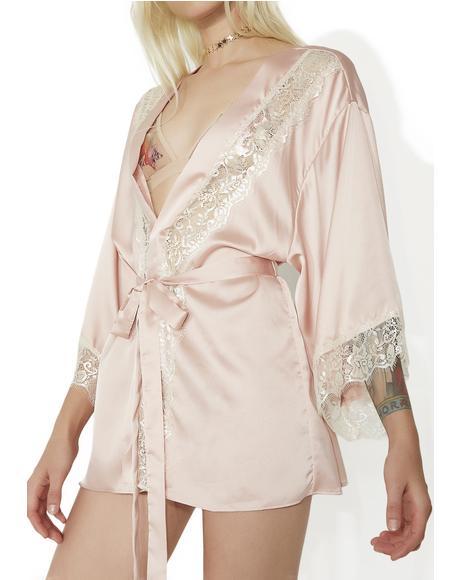 Modern Venus Satin Robe
