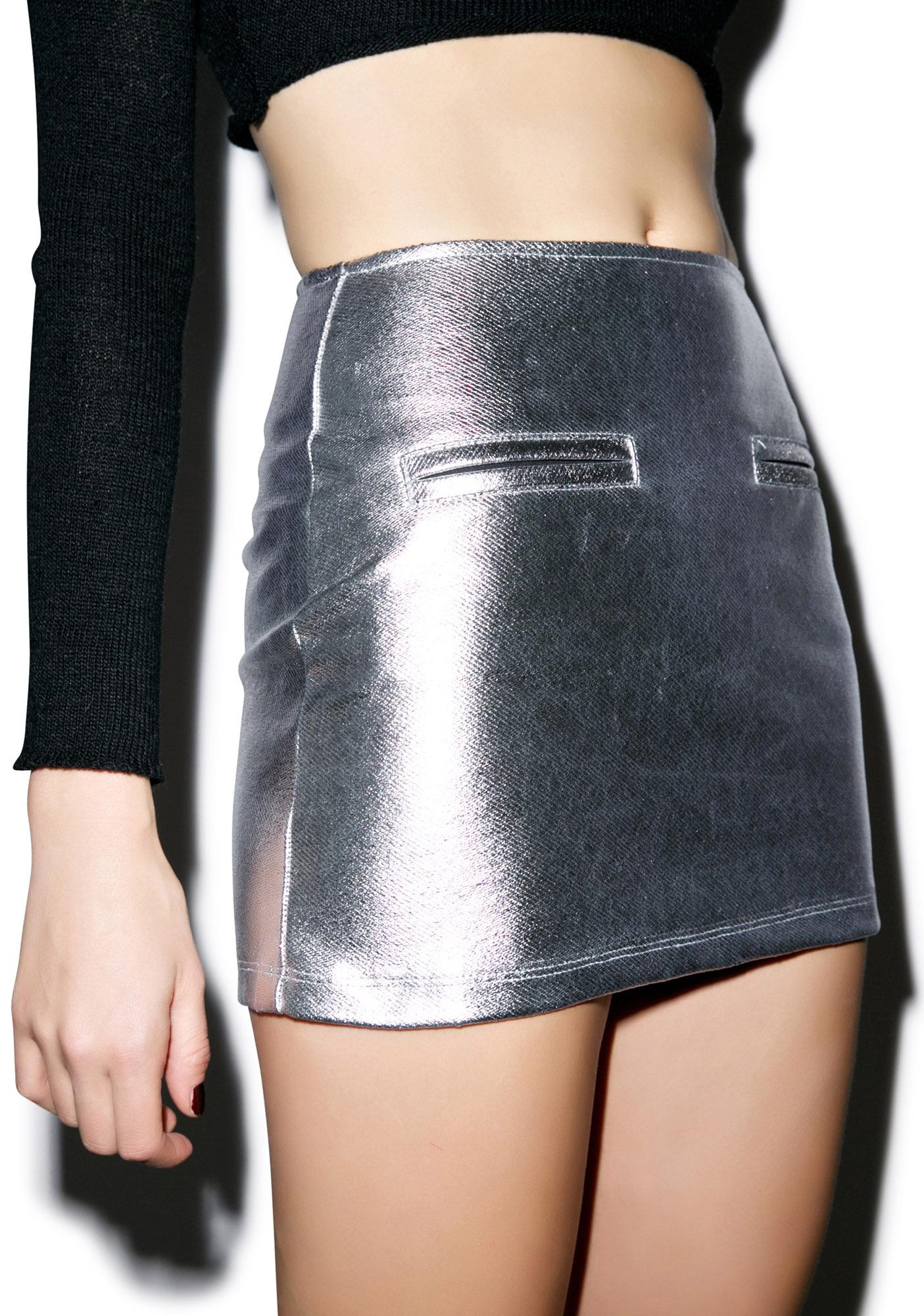 Motel Cetus Bodycon Mini Skirt