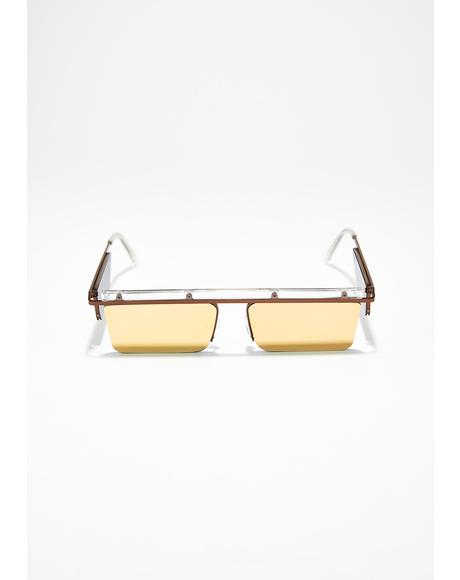 Golden Future Faded Sunglasses