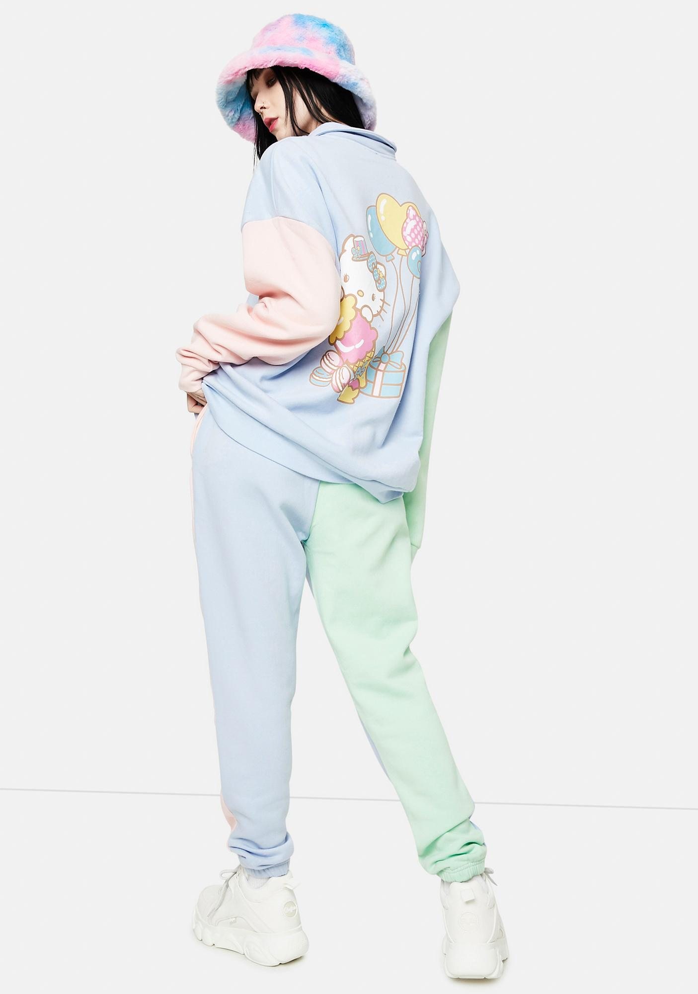 NEW GIRL ORDER Hello Kitty Color Block Joggers