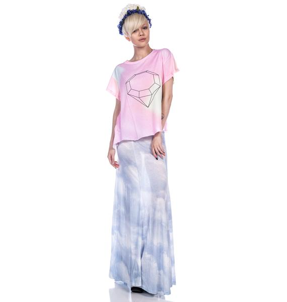 Wildfox Couture Crystal Jagged Edge Tee
