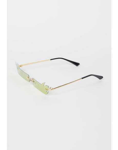 Step On it Flame Slim Sunglasses