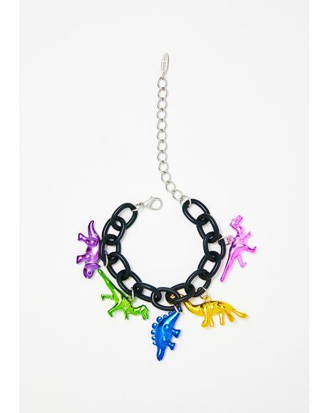 Dinosaur-y 'Bout It Chain Bracelet