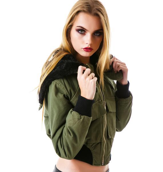 UNIF Trench Bomber Jacket