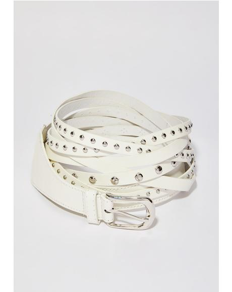 Boo Tell Me More Studded Belt
