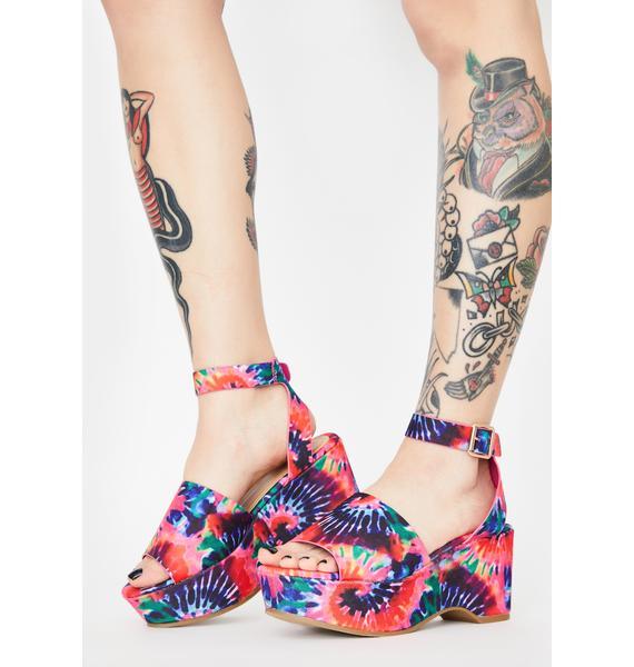 Crazy For U Platform Sandals