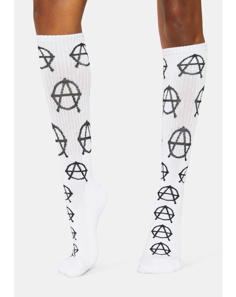 All Over Anarchy Socks