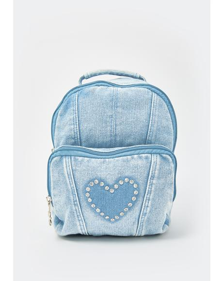 Waves Of Emotion Denim Backpack