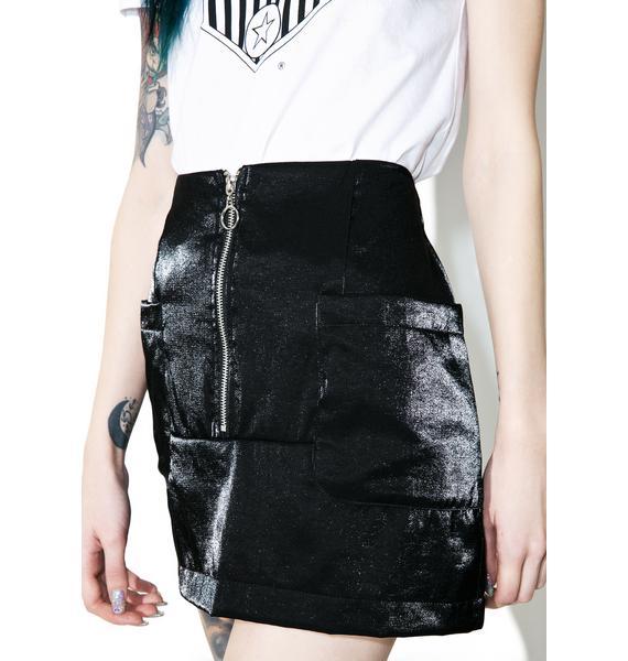 Black Noise Mini Skirt