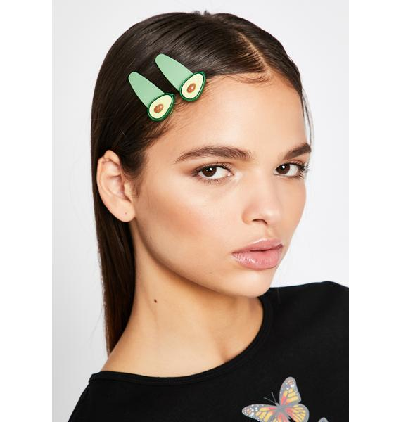 Let's Avocuddle Hair Clips