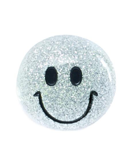 Smiley Face Glitter Ring