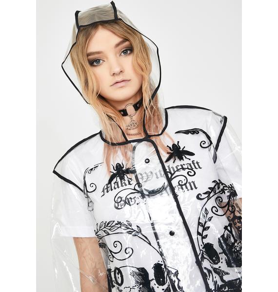 Jawbreaker Ouija Print Clear Raincoat