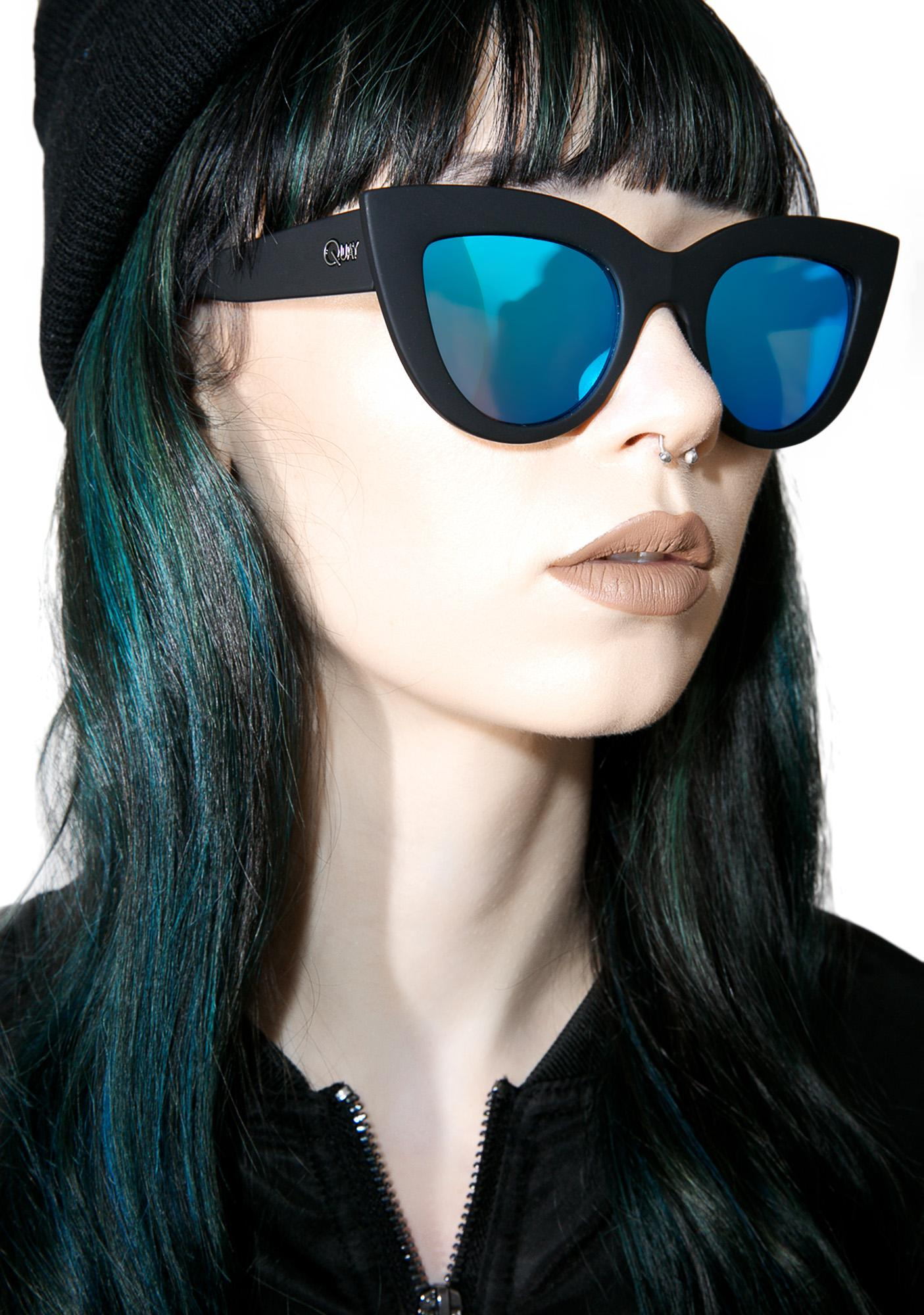Quay Kitti Sunglasses  quay eyeware black kitti sunglasses dolls kill